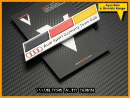 Audi Serisi Audi Sport Germany Logo Amblem
