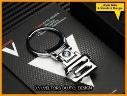 BMW 3 Serisi Logo Amblem Özel Krom 3 Anahtarlık