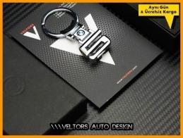 BMW 5 Serisi Logo Amblem Özel Krom 5 Anahtarlık
