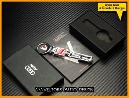 Audi A4 Serisi RS4 Logo Amblem Özel Krom Audi RS4 Anahtarlık