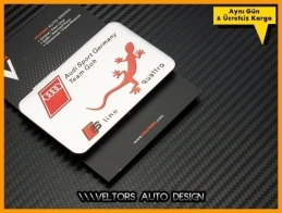 Audi Quattro Araç Plaket Logo Amblem