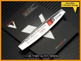 Audi S Line Germany Team Torpido Kokpit Plaket Logo Amblem