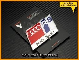 Audi RS Sport Araç Logo Amblem