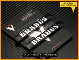 Mercedes BRABUS Logo Amblem Seti