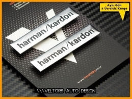 BMW Harman Kardon Stereo Hoparlör Logo Amblem Seti