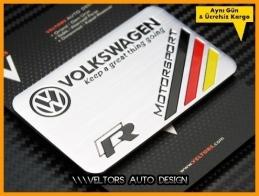 VW R Line R Motorsports Plaket Logo Amblem