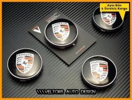 Porsche Logo Amblem Jant Göbeği Göbek Kapak Seti