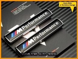 BMW M Performance Yan Logo Amblem Seti