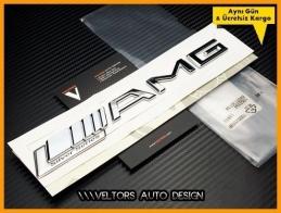 Mercedes AMG Silver Series Logo Amblem Seti