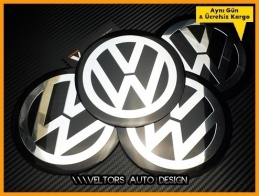 VW Jant Göbeği  Göbek Kapak Logo Amblem Seti 12 cm