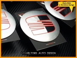 Seat Logo Amblem Jant Göbeği  Göbek Kapak Logo Amblem Seti 9 cm
