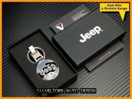 Jeep Logo Amblem Özel Krom Anahtarlık