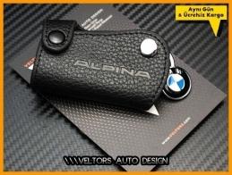 BMW Alpina Logo Amblem Deri Anahtarlık
