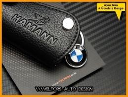 BMW Hamann Logo Amblem Deri Anahtarlık