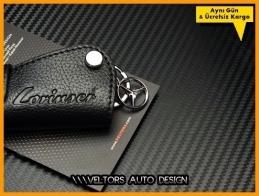 Mercedes Lorinser Logo Amblem Gerçek Deri Anahtarlık