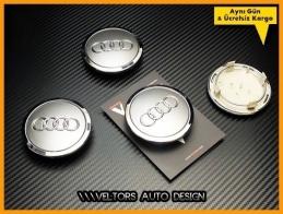 Audi Logo Amblem  Jant  Göbek Kapak Seti