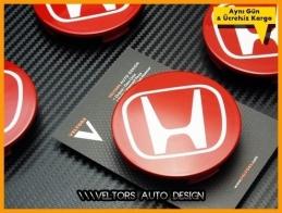 Honda Kırmızı Jant Göbeği Göbek Kapak Seti