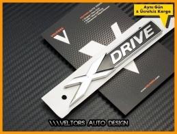BMW xDrive X Drive Bagaj Yazı Logo Amblem