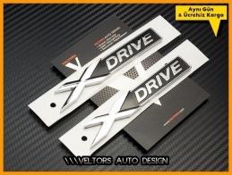 BMW xDrive X Drive Yan Logo Amblem Seti