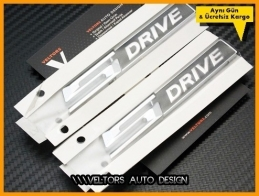 BMW Orjinal sDrive s Drive Logo Amblem Seti