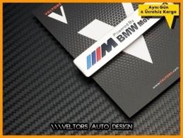 BMW M Motorsport Torpido Kokpit Plaket Logo Amblem