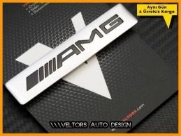 Mercedes AMG Torpido Kokpit Plaket Logo Amblem