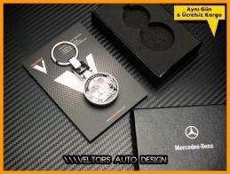 Mercedes AMG Logo Amblem Özel Krom AMG Anahtarlık