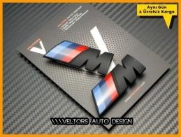 BMW Yan Çamurluk M logo Amblem Seti
