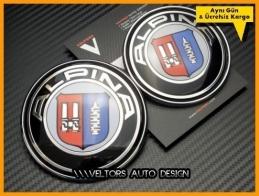 BMW Alpina Ön Kaput Arka Bagaj Logo Amblem Seti