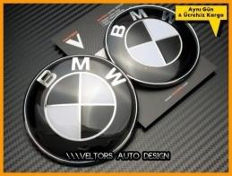 BMW Ön Kaput Arka Bagaj Logo Amblem Seti