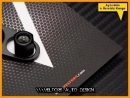 Ford RS Logo Amblem Anahtarlık Sibop Kapak Seti