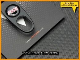 Mitsubishi RS Logo Amblem Anahtarlık Sibop Kapak Seti