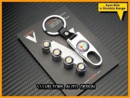 Alfa Romeo Logo Amblem Anahtarlık Sibop Kapak Seti