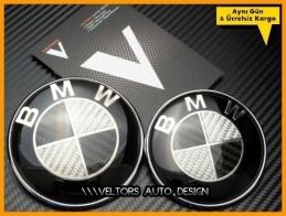 BMW Carbon Ön Kaput Bagaj Logo Amblem Seti
