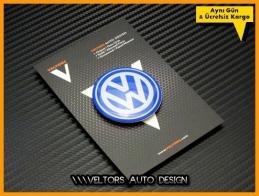 VW Blue / Mavi Direksiyon Logo Amblem