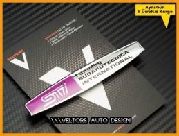 Subaru Tuned by Sti Torpido Kokpit Logo Amblem