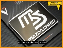 Mazda Speed Black Plaket Logo Amblem