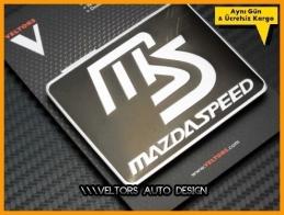 Mazda Speed Black Plaket Logo Amblem