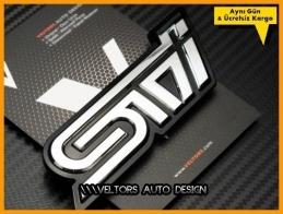 Subaru Sti Bagaj Yazı Logo Amblem