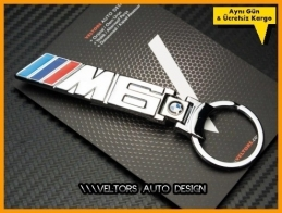 BMW 6 Serisi M Logo Amblem Özel Krom M6 Anahtarlık
