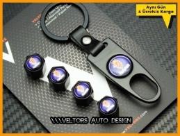 Saab Logo Amblem Anahtarlık Sibop Kapak Seti