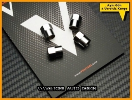 VW Logo Amblem Araç Sibop Kapak Seti
