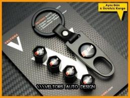 Audi RS4 Logo Amblem Anahtarlık Sibop Kapak Seti