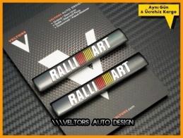Mitsubishi Ralli Art Koltuk Döşeme Logo Amblem Seti