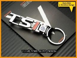 VW Tsi Logo Amblem Özel Krom Anahtarlık