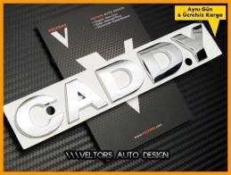 VW Orjinal Caddy Bagaj Yazı Logo Amblem