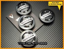 Nissan Qashqai Micra Logo Amblem Jant  Göbek Kapak Seti