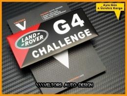 Land Rover G4 Challenge Plaket Logo Amblem