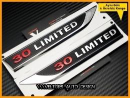 Jeep 3.0 Limited Yan Logo Amblem Seti
