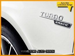 Mercedes AMG Turbo 4 Matic Logo Amblem Seti